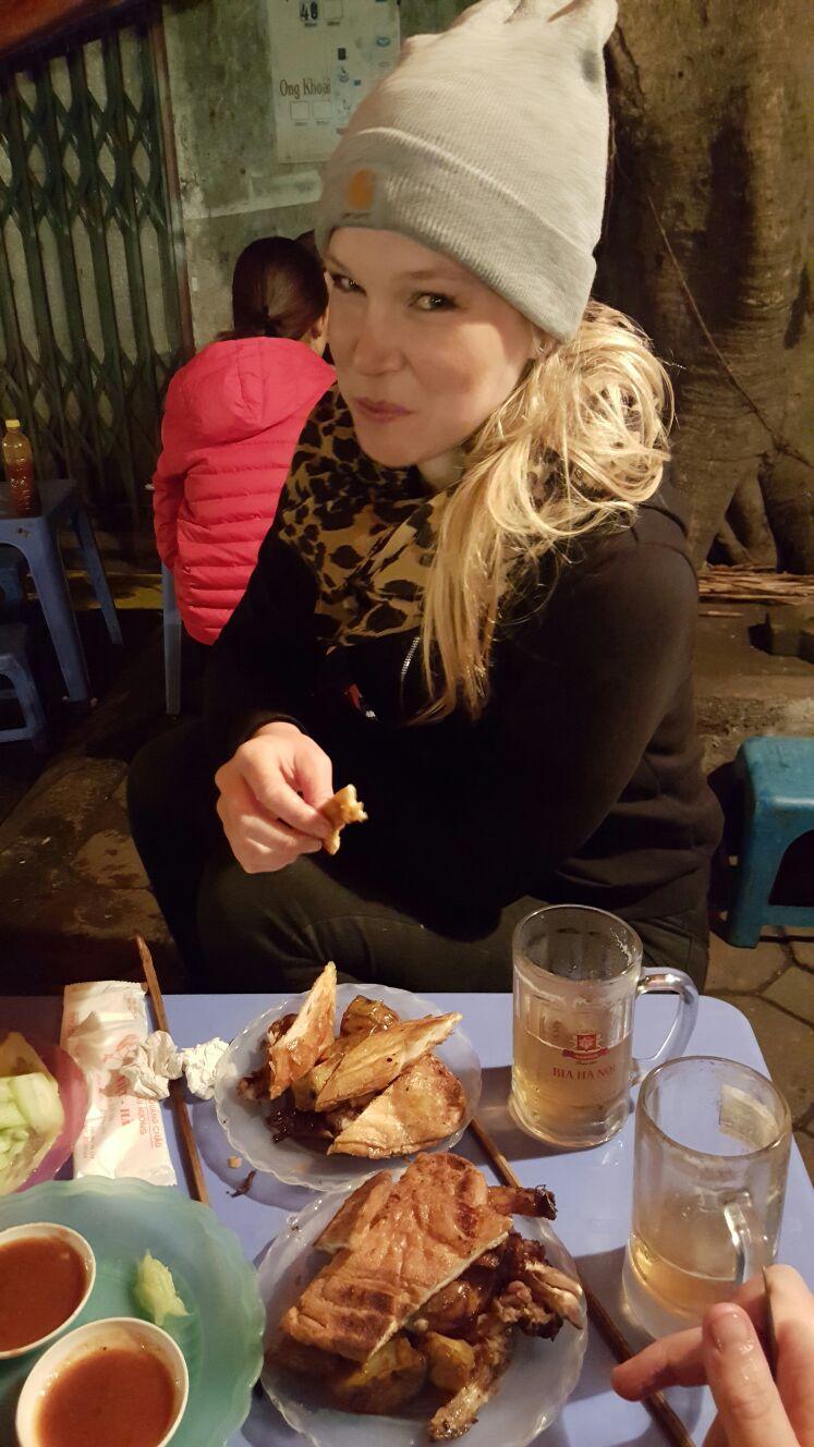 bbq chicken street Hanoi