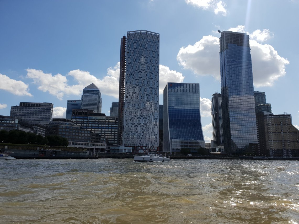 Canary Wharf by boat
