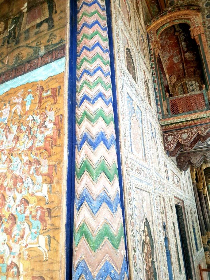 Tipu Sultan summer house interior decoration, visiting Tipu Sultan summer house