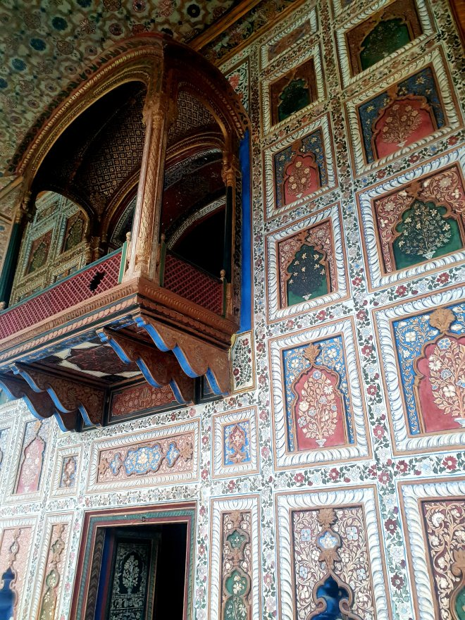 Tipu Sultan summer house interior decoration, visiting Tipu Sultan summer house